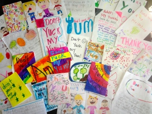 Just a few from the stack of Thank You cards I received from 3rd graders. Please check out my Pinterest page to see the awesome things these kids learned from just one school visit!